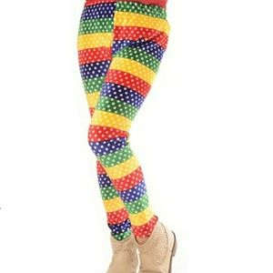 Other - Kids Rainbow Print Velour Leggings